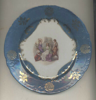 Pretty Limoges style decorative plate. Very old,with greek/roman scene