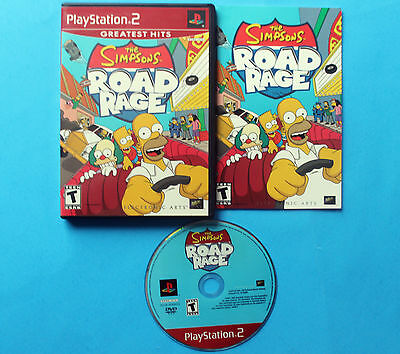 The Simpsons Road Rage (Sony PlayStation 2, 2001) GREATEST HITS COMPLETE NM DISC