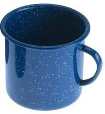GSI Outdoor Blue Enamelware 12oz Coffee Beverage Cup Mug Camping Hunting Fishing