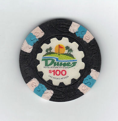 1989 'Uncirculated' Dunes Casino $100 Gaming Chip