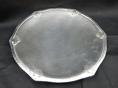 Antique Derby Silver Co #6643 Hand Hammered Footed Dish