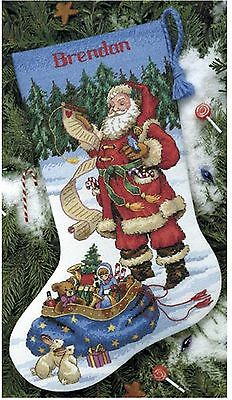 Checking His List Christmas Stocking 8645 Counted Cross Stitch Kit