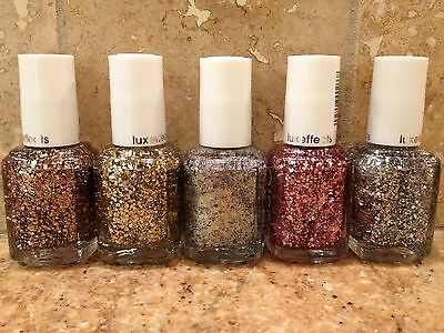 LOT OF 5 ESSIE NAIL POLISH LACQUER! NEW! FIVE DIFFERENT COLORS! SILVER PLATTER!