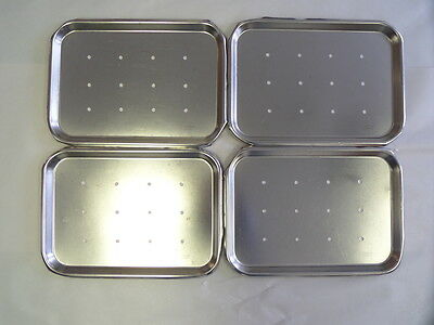 "Dittmar Stainless Polarware Co Tray 13 1/2"" x 9 3/4"" *Lot of 4*"