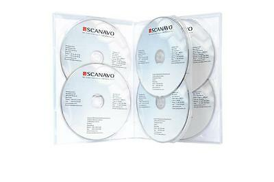 """NEW! 10 Scanavo Premium Clear 6-disc DVD Cases 1/2"""" 14mm - Holds 6 discs - Six"""