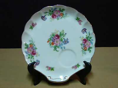 Vintage Celebrate Porcelain Snack Plate - Roses Floral Pattern Made In Japan