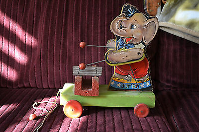 Rare Vintage FISHER PRICE JUMBO Xylophone #780 wood pull toy 1937