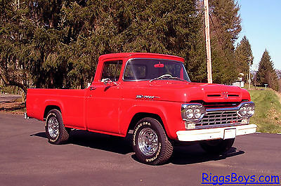 Ford : F-250 Custom Cab 1960 ford f 250 pickup with 36 000 original miles