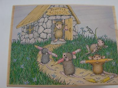 House Mouse Rubber Stamps - Scuttle School