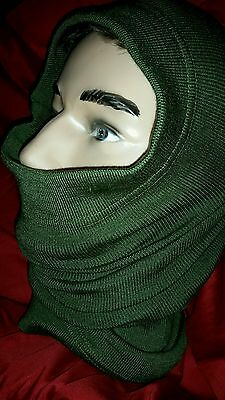 New!! Czech Imported military OD green tube scarf wool/acryl blend Prepare!!