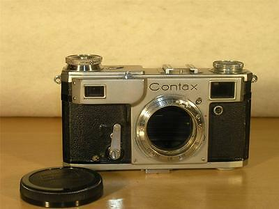 Jena Contax II ca.1947 Extremely Rare Zeiss 35mm Rangefinder Camera Body