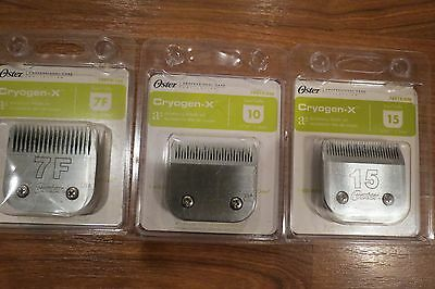 Oster A5 CryogenX Blade Lot, NEW, Size #15, #10, #7F