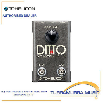 TC Helicon Ditto Mic Looper includes Australian Power Supply