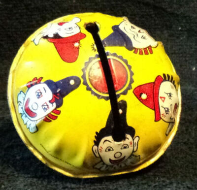 Vintage New Years Eve Noisemakers Metal Toys Wooden Handle