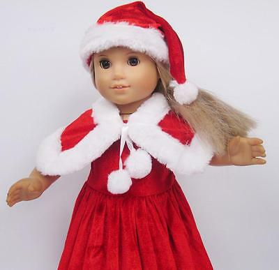 Handmade lovely dress clothes for 18 inch American Girl Doll Christmas Gift b5