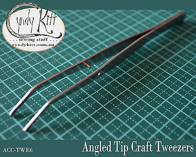 Angle tip, craft tweezers