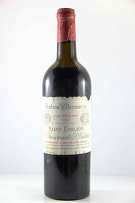 Chateau Villemaurine 1952 Red Wine (High Mid Shoulder), Bordeaux