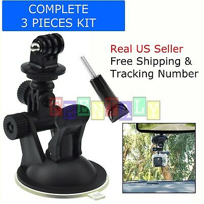 360 Degree Car Window Windshield Suction Cup Mount for Gopro 2 3 3+ 4 5 6