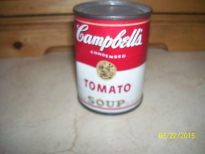 "VERY RARE & VINTAGE 2 3/4"" TIN CAMPBELL'S TOMATO SOUP CAN -TOY FOR KITCHEN"