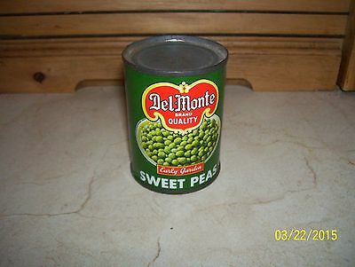 "VERY RARE & VINTAGE 2 3/4""TIN DEL MONTE SWEET PEAS CAN - TOY FOR KITCHEN"