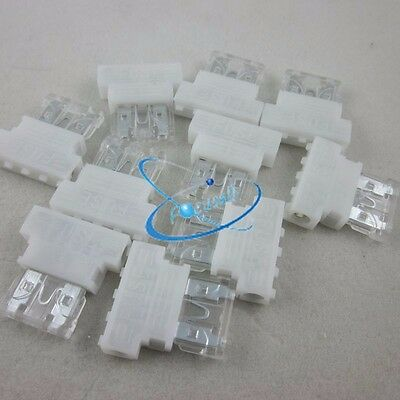 10pcs Auto Middle Medium Standard Fuse Holder +25A Fuse for Car Boat Truck Blade