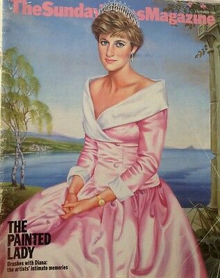 Rare Sunday Times Magazine. Princess Diana 1998 Painted Lady Her Portraits