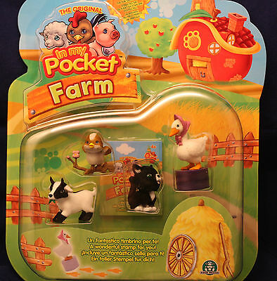 *IN MY Pocket-Farm/ 4 versch. Tier und 1 Stempel/*Preziosi* Neu/ OVP