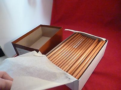 1 GROSS (144) VINTAGE DRAWING/SKETCHING PENCILS CHARCOAL ROUND 6B DURO ART USA