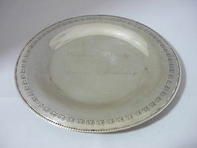 Superb Rare Vintage Egyptian Heavy Solid Hallmarked Silver Dish 96.1 Grams