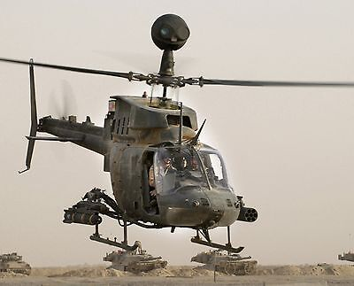 Us Army Kiowa Warrior Helicopter 8X10 Photo Aircraft Mackenzie Iraq Oct 2004