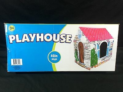 Indoor Outdoor Playhouse Tent Children Kids 42 Inches Tall
