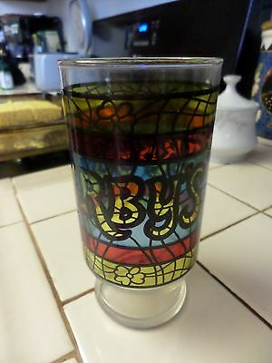 Vintage Arby's Stained Glass Glasses