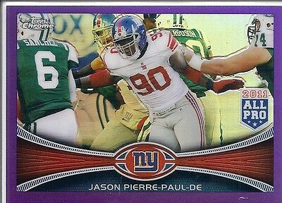 2012 Topps Chrome JASON PIERRE-PAUL New York Giants Purple Refractor # 76 #d/499
