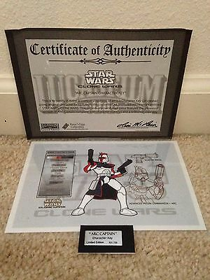 STAR WARS CLONE WARS CHARACTER KEY ARC CAPTAIN W/ COA LIMITED EDITION 701/750