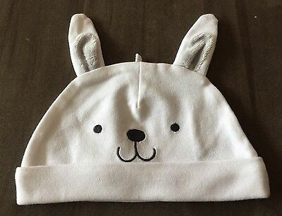 Carter's Precious Firsts White Bunny Ears Baby Infant Cap Hat Easter 0-6M Rabbit