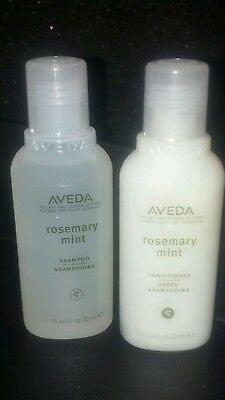 New Aveda Rosemary Mint Shampoo & Conditioner 6pc Lot Sample Gift Travel LG 1 oz