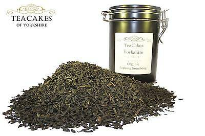 Organic Lapsang Souchong Tea 100g Gift Caddy Black Speciality Loose Leaf