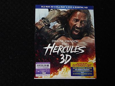 Hercules 3D (Blu-ray 3D+Blu-ray+DVD) Rated PG/Unrated NEW