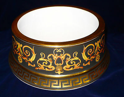 Genuine Versace 22 ct gold plated Barocco Large Designer 20cm Dog Bowl in box