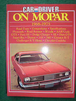 ON MOPAR  1968 - 1975 Car and Driver     Brooklands Books