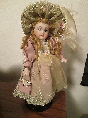 ANTIQUE REPRODUCTION ALL BISQUE ARTIST DOLL-8 IN. TALL