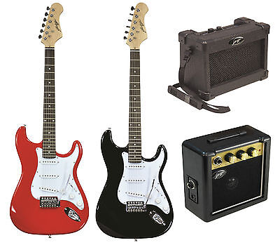 Johnny Brook Electric ST Style Guitar - Mini Amp Amplifiers Shoulder & Belt Clip