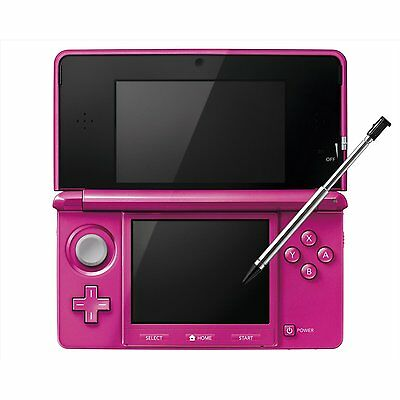 New Nintendo 3DS Metallic Gross Pink Video Games