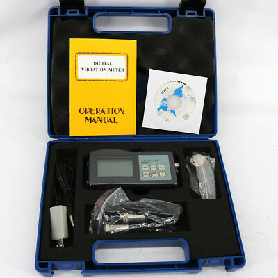 VM-6360 Portable Digital Vibration Tester Meter Vibrometer with software & cable