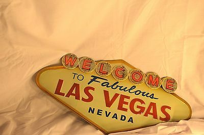 Embossed LAS VEGAS Sign NEVADA Gambling Poker Slot Machine Vintage Style Mobil