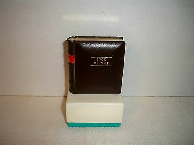"""VTG Novelty Alarm Clock """"Book Of Time"""" Europa Made In Germany 7 Jewels"""