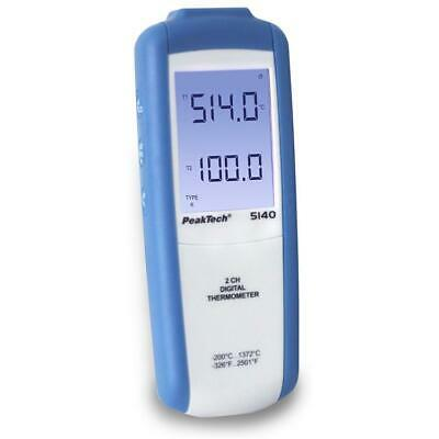 PeakTech 5140 Thermometer Messgerät Temperatur Messer digital Thermo Gerät