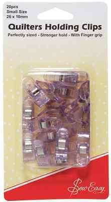 Sew Easy Semi-transparent Spring-loaded Quilting Holding Clips [ER230.S]