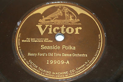 """Henry Ford's Old Time Dance """"Seaside Polka, Heel And Toe"""" 1926 Victor 19909 78"""