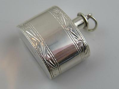 Chased Sterling Silver Miniature Flask Scent Bottle